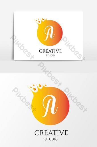 elemento gráfico de vector de logotipo de letra creativa Elementos graficos Modelo AI