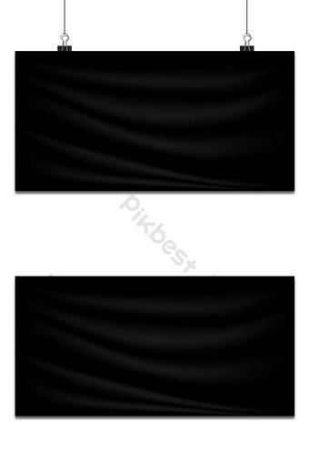 Banner lụa ngang màu đen sang trọng Bản mẫu AI