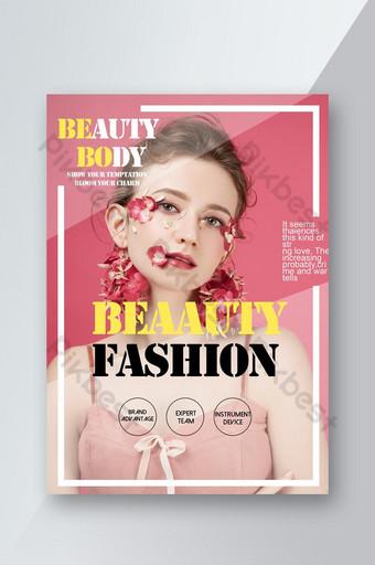 Flyer de beauté de style magazine populaire de mode Modèle PSD
