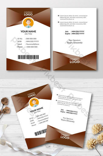 Carte d'invitation de carte d'identité d'entreprise Modèle AI