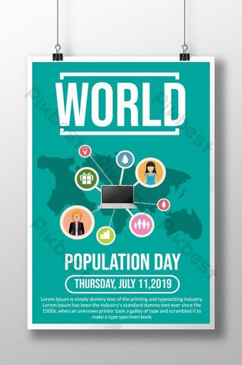 현대적이고 세련된 세계 인구의 날 포스터 템플릿 AI