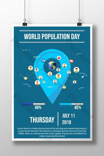 크리 에이 티브 유행 세계 인구의 날 포스터 템플릿 AI