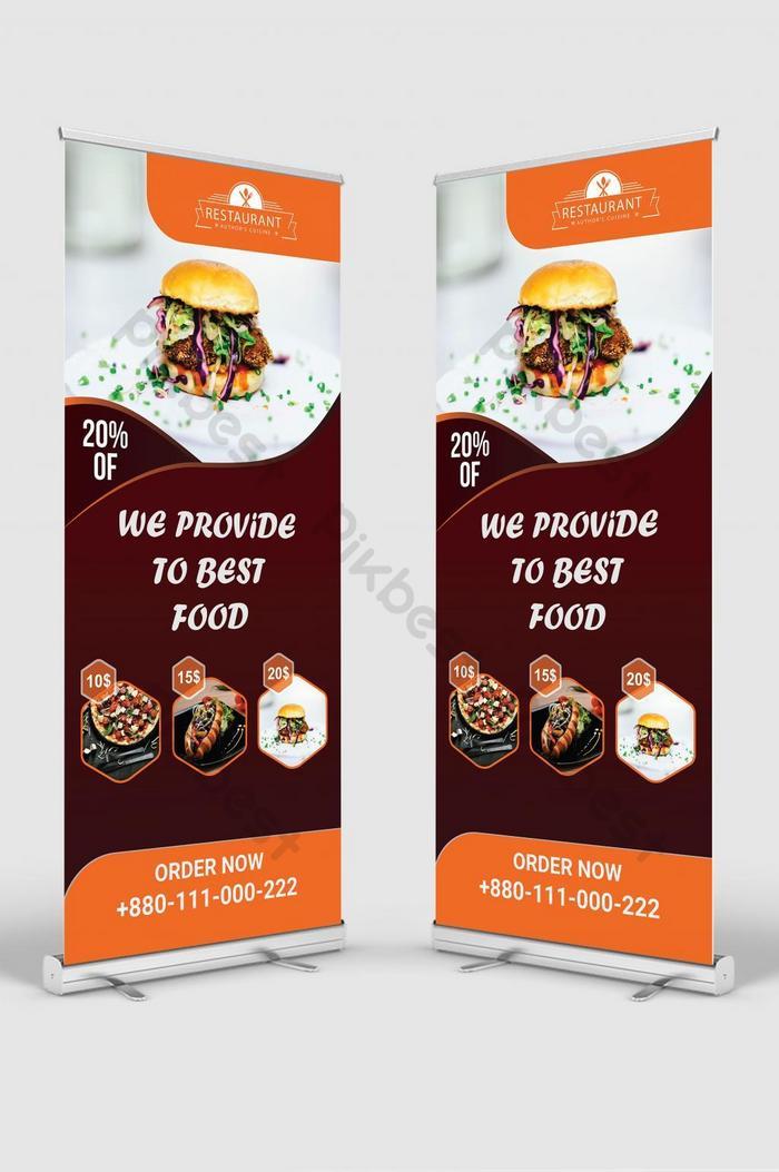 مطعم حديث باللونين الأصفر والأسود نشمر عن تصميم لافتة لافتات Ai تحميل مجاني Pikbest