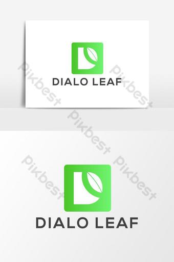 Dialo hoja d letra logo vector elemento gráfico Elementos graficos Modelo AI