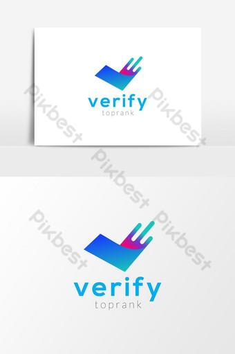Verificar toprank v letra logo vector elemento gráfico Elementos graficos Modelo AI