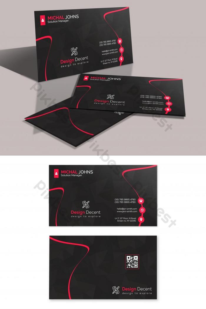 kad perniagaan hitam dan magenta