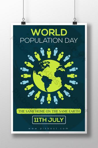 최고의 세계 인구의 날 포스터 템플릿 AI