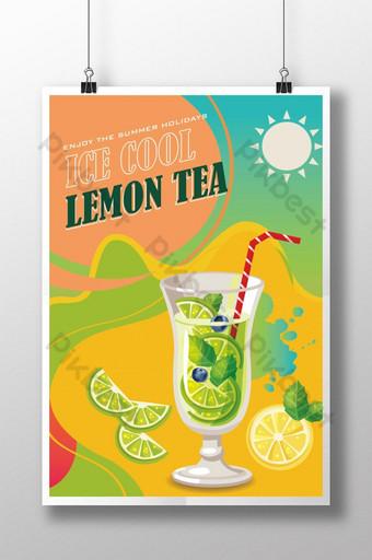 منعش الصيف الليمون الشاي فلم قالب AI