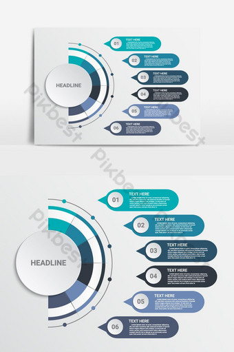 elemento gráfico de vector de infografía de tres pasos Elementos graficos Modelo EPS