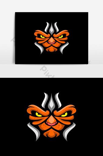 elemento gráfico de vector de logo de cabeza de león e Elementos graficos Modelo EPS