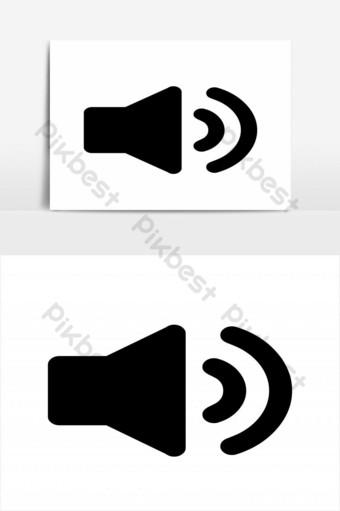 elemento gráfico de vector de icono de altavoz de música simple Elementos graficos Modelo EPS