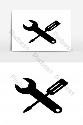 elemento gráfico de vector de diseño de icono de configuración simple Elementos graficos Modelo EPS