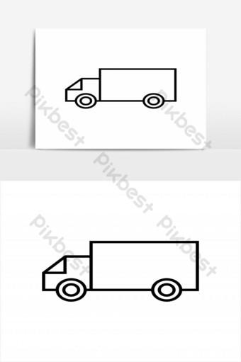 elemento gráfico de vector de diseño de icono de camión simple Elementos graficos Modelo EPS