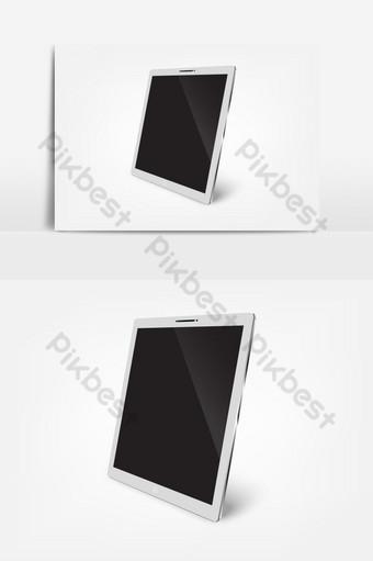 isométrico vector 3d smartphone o tableta elemento gráfico de vector aislado Elementos graficos Modelo EPS