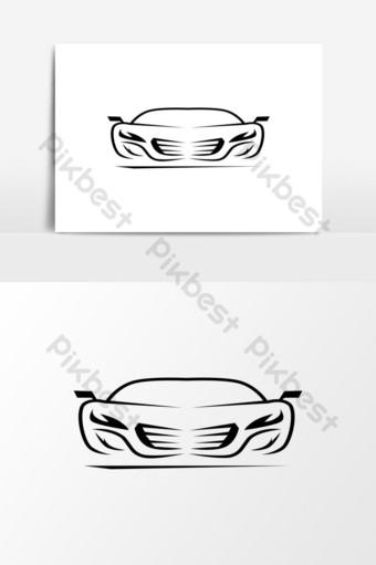 coche auto logo esqueleto elemento gráfico vectorial Elementos graficos Modelo EPS
