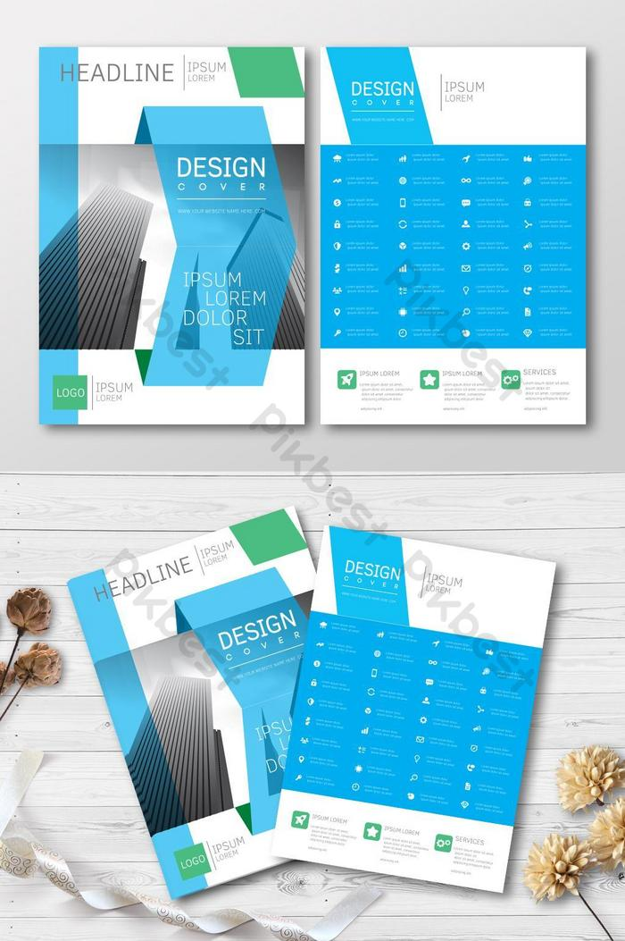 capas para brochuras azuis imobiliárias
