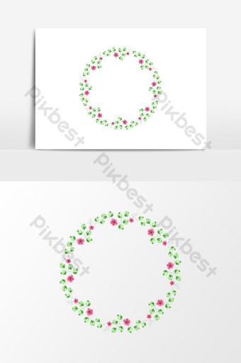 Increíble corona floral de acuarela para elemento gráfico de vector de boda Elementos graficos Modelo PSD