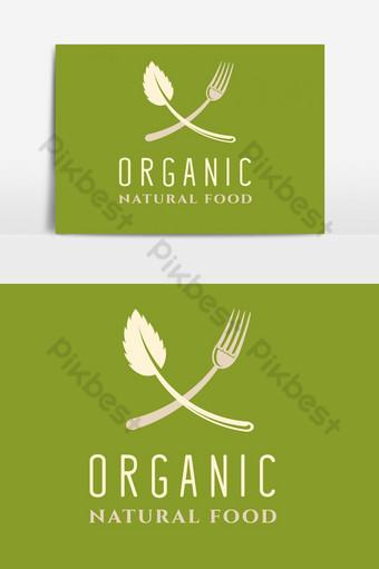 comida y restaurante logo elemento gráfico vectorial verde Elementos graficos Modelo AI