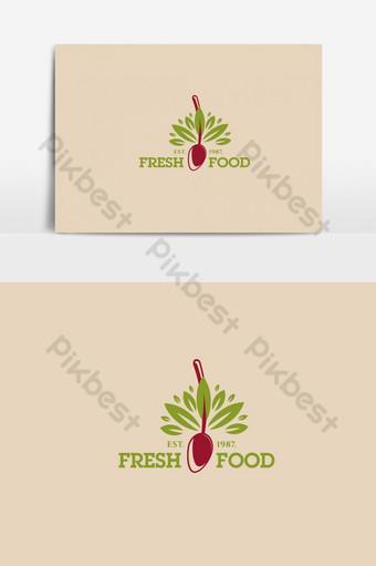 diseño de logotipo de comida y restaurante elemento gráfico vectorial simple Elementos graficos Modelo AI