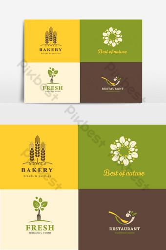 comida y restaurante logo colección vector elemento gráfico Elementos graficos Modelo AI
