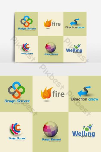 Logo design set Vector Graphic Element PNG Images Template AI