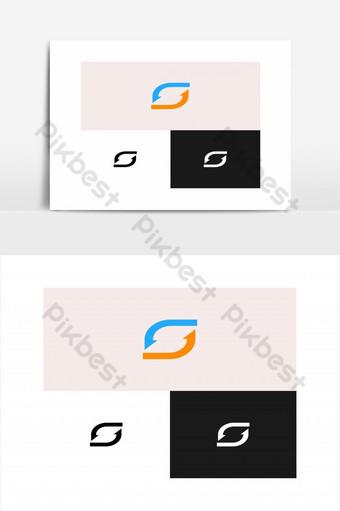sincronizar logo símbolo elemento gráfico vectorial Elementos graficos Modelo EPS