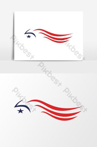 modernong makabayan amerikanong agila logo Vector Graphic Element Imahe ng PNG Template EPS