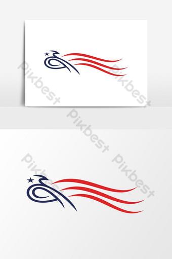 modernong makabayan USA istilong agila ulo logo disenyo Vector Graphic Element Imahe ng PNG Template EPS