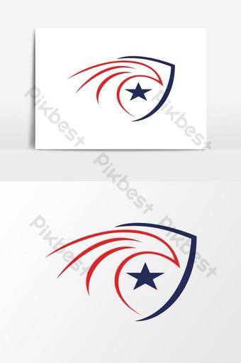 modernong makabayan estilo ng amerikano agila ulo logo Vector Graphic Element Imahe ng PNG Template EPS