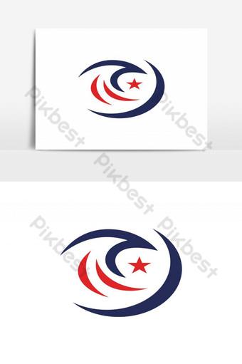 modernong makabayan amerikanong agila ulo logo disenyo ng Vector Graphic Element Imahe ng PNG Template EPS