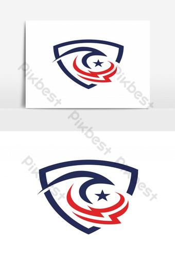 modernong makabayan amerikano agila ulo Vector Graphic Element Imahe ng PNG Template EPS