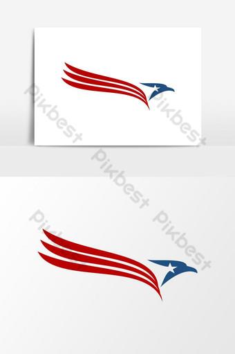 elemento gráfico de vector patriótico americano águila cabeza logo usa Elementos graficos Modelo EPS