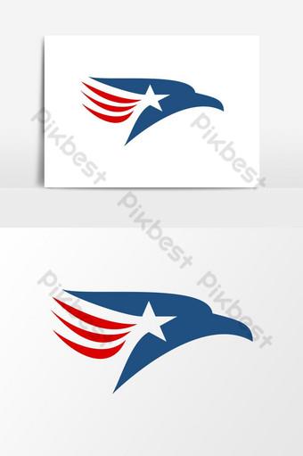 modernong makabayan amerikanong agila logo ng USA Vector Graphic Element Imahe ng PNG Template EPS