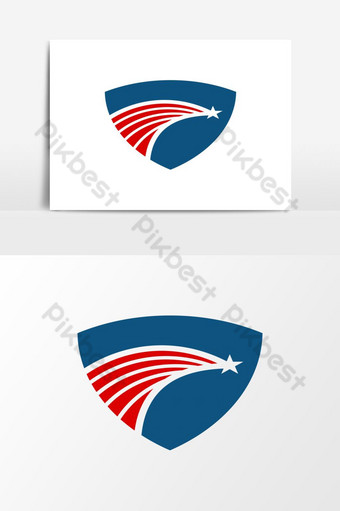 modernong makabayan amerikano agila ulo USA Vector Graphic Element Imahe ng PNG Template EPS