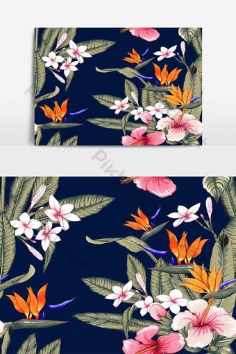 patrón floral transparente elemento gráfico de vector de color pastel rosa Elementos graficos Modelo EPS