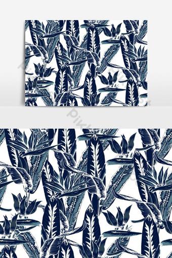 patrón sin costuras tropical hermoso con plantas ornamentales elemento gráfico vectorial Elementos graficos Modelo EPS