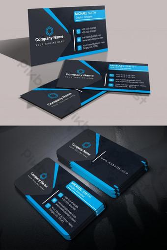 kartu bisnis biru profesional Templat PSD