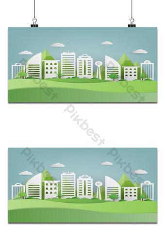 Papier d'art d'herbe verte et fond de parc Fond Modèle EPS