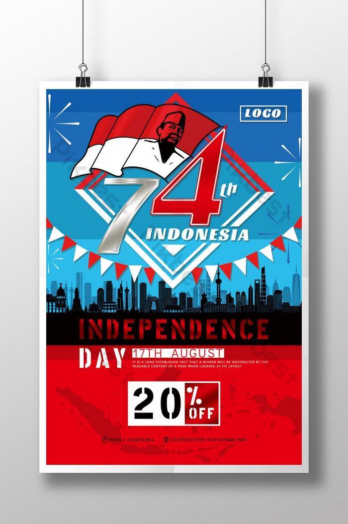 印尼國慶週年紀念海報
