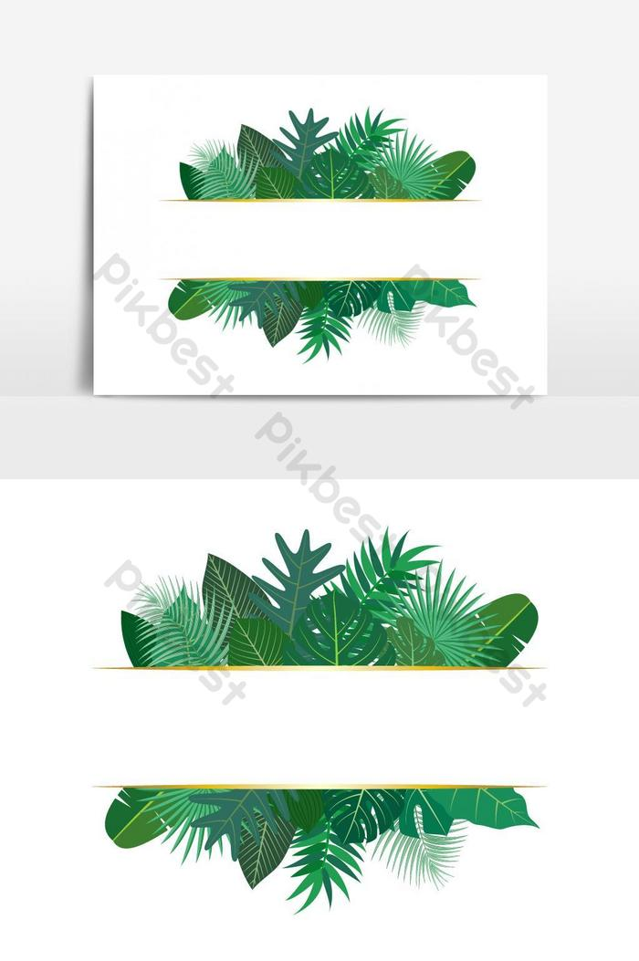 Vector Illustration Of Various Exotic Green Tropical Leaves Vector Graphic Element Png Images Ai Free Download Pikbest Download 10 photos or vectors. vector illustration of various exotic