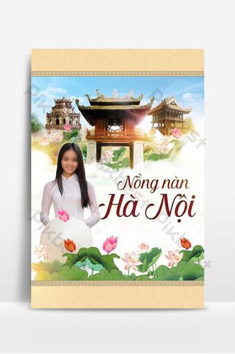 Hanoi Vietnam location cultural Background Backgrounds Template PSD