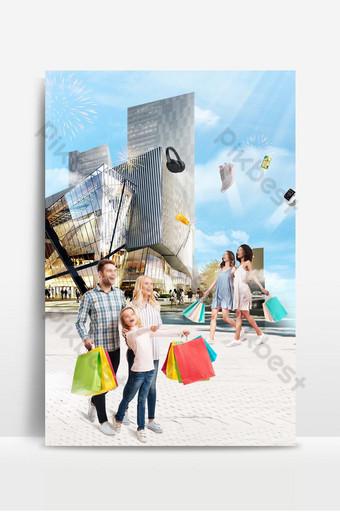 Poster shopping moda ecommerce viet nam sfondo sfondi Sagoma PSD