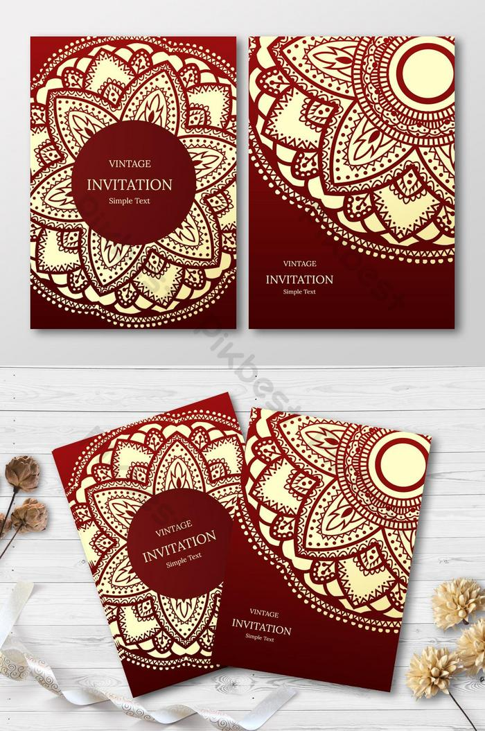 abstract background wedding invitation card  ai free