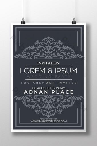 plantilla de diseño de cartel de boda creativo y moderno para pareja de amor Modelo AI