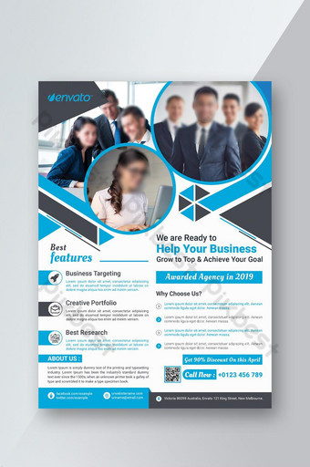 Clean High Quality Corporate Flyer Design Template PSD