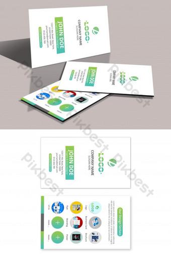 Multipurpose Service Business Card Template PSD