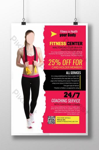 Modèle de Flyer de club de plan de santé Body Fitness Modèle PSD