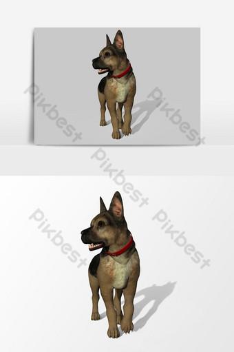 عرض ثلاثي الأبعاد للكلب تم إنشاؤه باستخدام عنصر رسومي متجه لمربع أداة الخلاط صور PNG قالب PSD