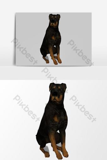 Representación 3D de perro creado mediante el uso de un elemento gráfico vectorial licuadora Elementos graficos Modelo PSD