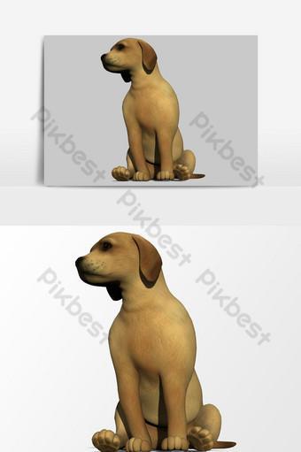 تقديم 3d من عنصر الرسم ناقلات جرو الكلب صور PNG قالب PSD